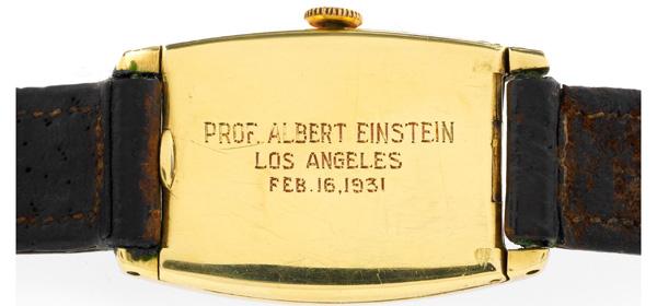 Antiquorum met en vente la montre Longines d'Albert Einstein