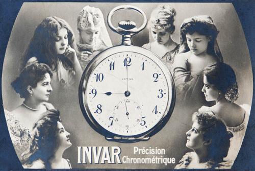 Carte postale de la Fabrique INVAR, publicité des années 1920. MIH / BM