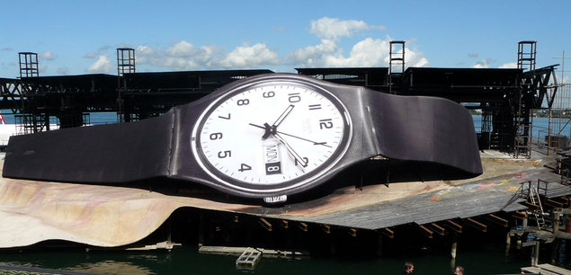 Une Swatch géante à Bregenz