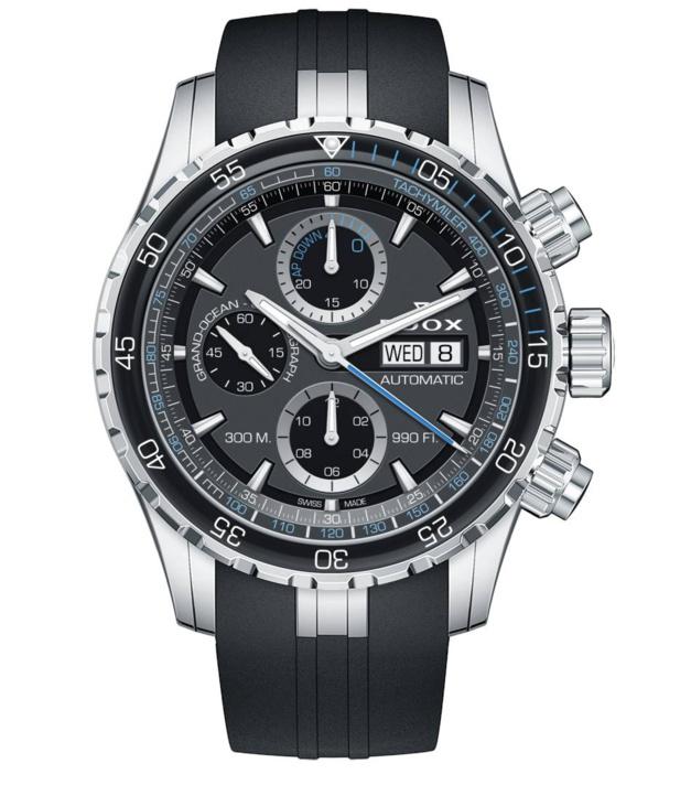 Edox Grand Ocean black dial