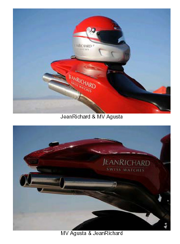 JeanRichard et MV Agusta à Bonneville pour un record du monde de vitesse à moto