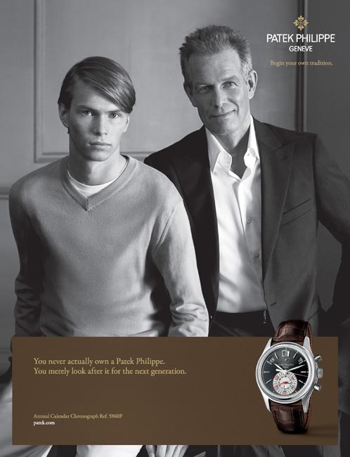 Campagne Générations de Patek Philippe, version 2008