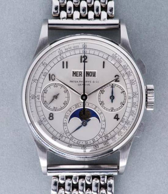 Patek 1518 stainless steel, Copyright Phillips