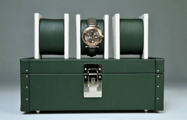 Julien Mardesson : coffret à montres de malletier