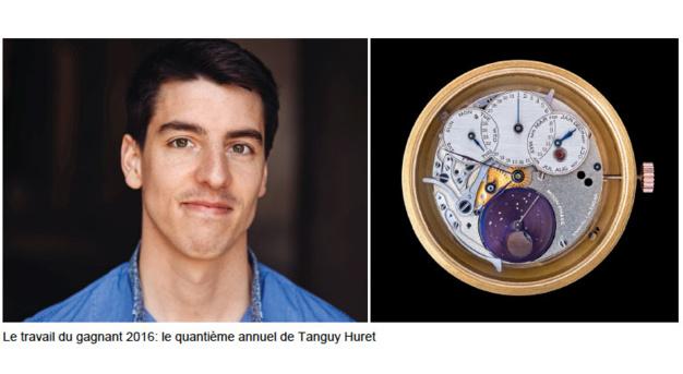 Tanguy Huret reçoit le Prix d'Excellence F.A. Lange 2016