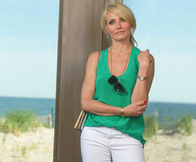 Triple Alliance : Cameron Diaz porte une TAG Heuer Gold Link