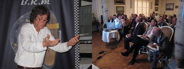 Jean-Paul Crabbe donnant un cours d'horlogerie aux membres du Club-Chronos