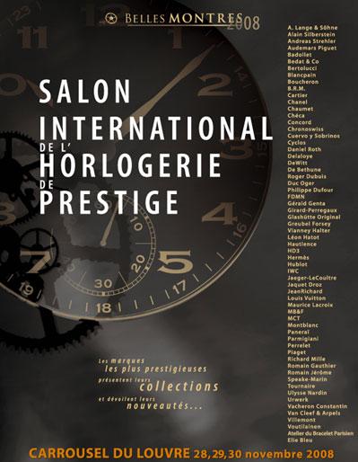 Belles Montres : la 2ème édition de ce salon horloger aura lieu du 28 au 30 novembre 2008