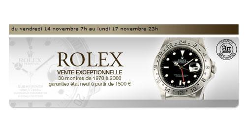 Vente de Rolex Vintage et contemporaines sur le site Internet Bestmarques.com le 14 novembre