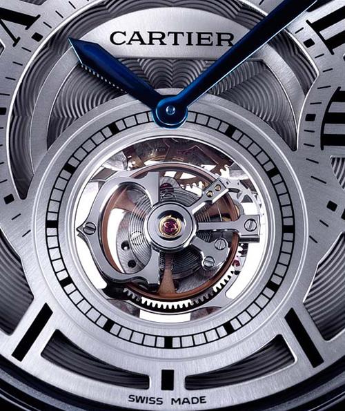 Ballon bleu de Cartier avec tourbillon volant