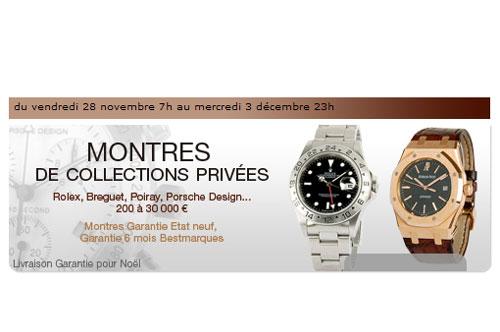 Vente de montres de luxe Vintage et contemporaines sur le site Internet Bestmarques.com le 28 novembre