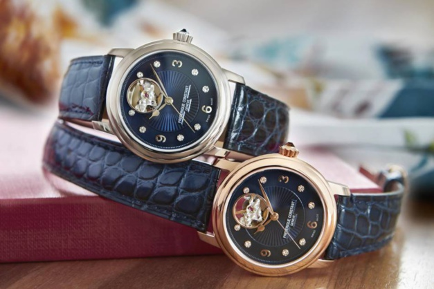 Frédérique Constant Ladies Automatic Heart Beat : tendance bleue