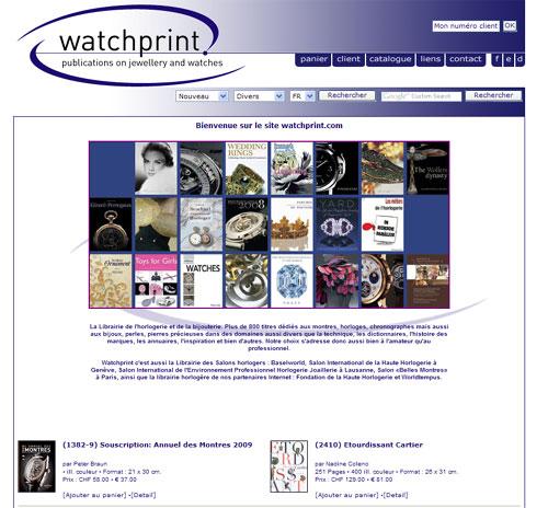 Watchprint.com : toute la littérature horlogère en quelques clics...