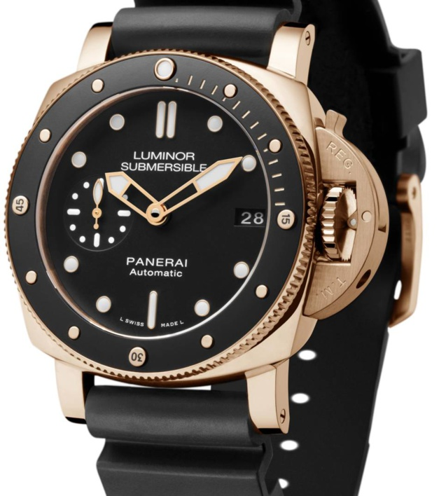 panerai submersible 1950 42 mm et en or. Black Bedroom Furniture Sets. Home Design Ideas