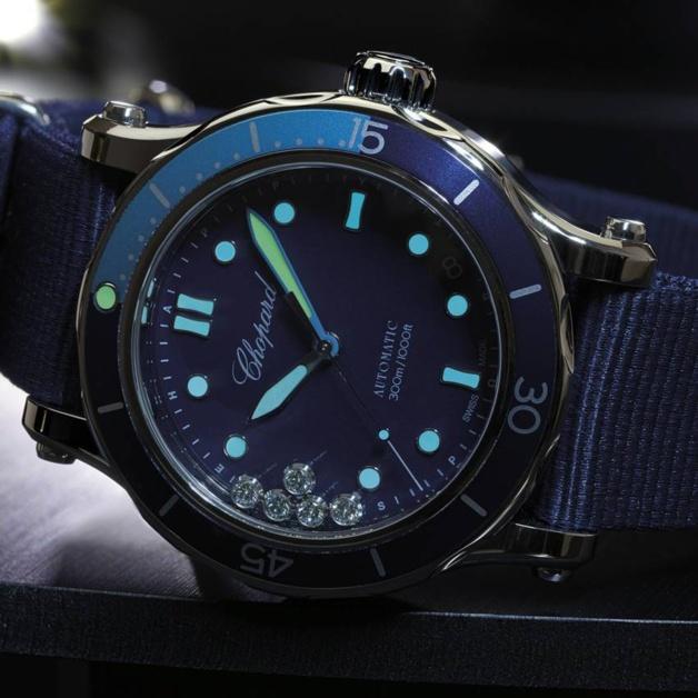 Chopard Happy Ocean : plongeuse sport-chic sur Nato