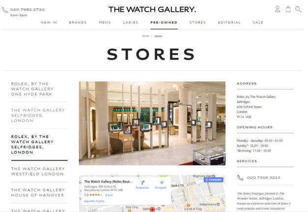 Londres : Bucherer vient d'acquérir The Watch Gallery