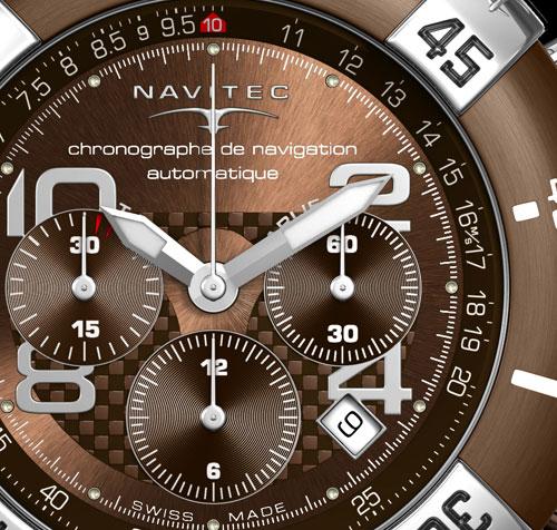 Navitec Tango Charlie Automatique Chocolat : chronographe de navigation