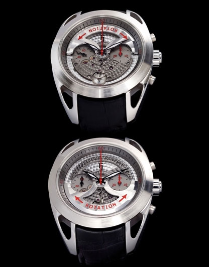 Frédéric Jouvenot présente l'Automatic Chronograph Evolution avec rotor côté cadran
