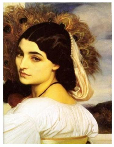Pavonia, l'un de ses chefs-d'œuvre huile sur toile, 1858-9 - 53 x 41,5 cm