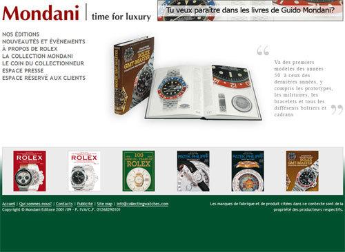 Booksandwatches.com : Mondani Editore présente son nouveau site Internet