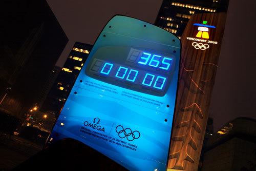 Omega lance le compte à rebours des JO d'hiver de Vancouver 2010