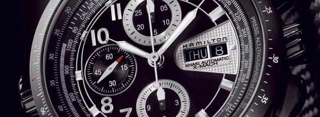 Hamilton Khaki X-Mach : une montre capable de mesurer la vitesse d'un avion par rapport à celle du son