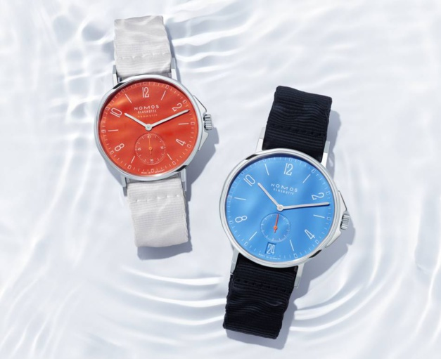 Nomos : une collection Aqua haute en couleur
