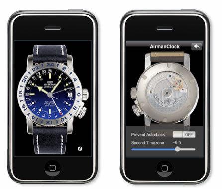 Une Airman 17 Glycine Watch sur votre iPhone