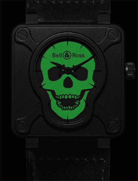 Instrument BR01 Airborne : touche pas à ma montre, tête de mort
