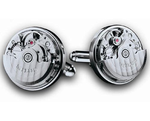 milus quand les boutons de manchette s inspirent des mouvements de montre. Black Bedroom Furniture Sets. Home Design Ideas
