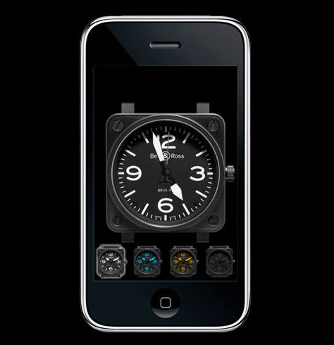 Bell & Ross BR01 Instruments : disponible sur Iphone