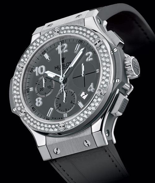 Big Bang Earl Gray : d'un gris mat doux et intense illuminé par plus de 160 diamants...