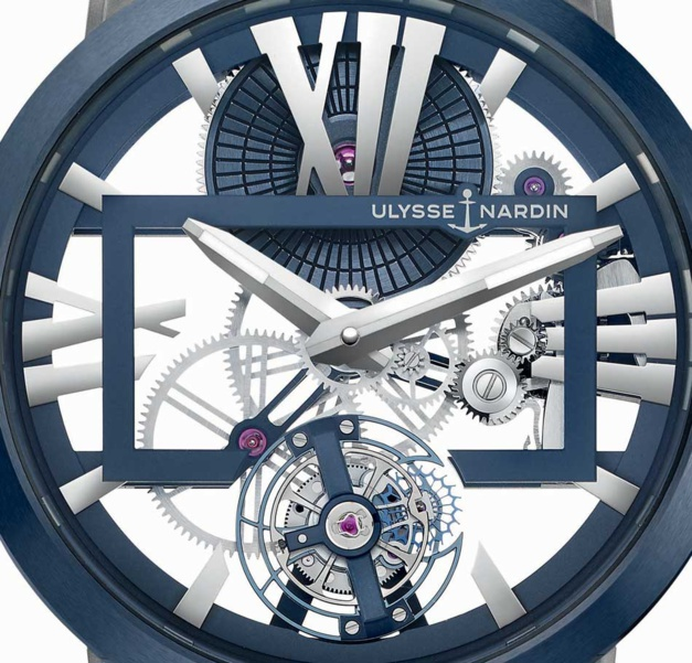 Ulysse Nardin Executive Skeleton Tourbillon bleu