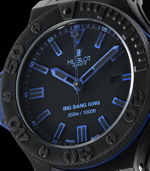 Big Bang King All Black Blue : Hublot get the blues…