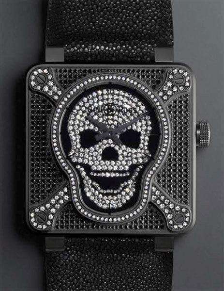 Bell & Ross présente une BR 01 Airborne toute en diamants pour Only Watch 2009