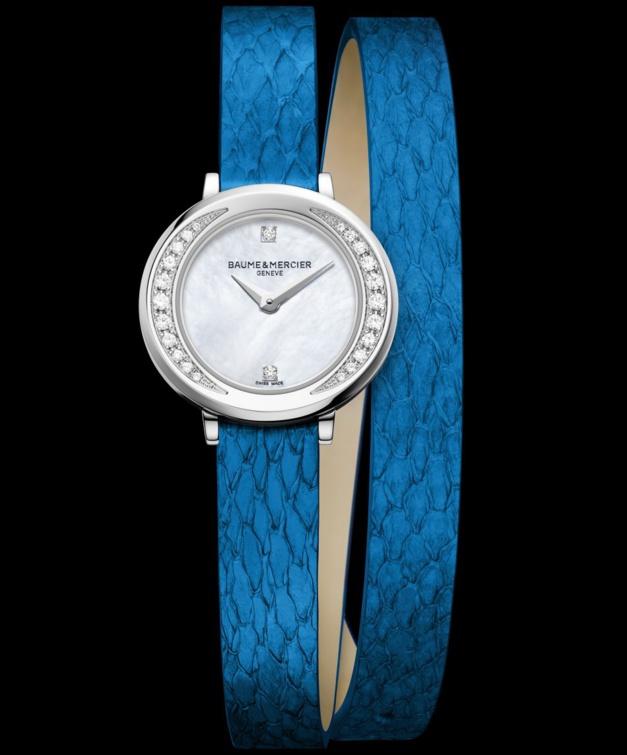 Baume et Mercier : du cuir de truite pour les bracelets des Petite Promesse