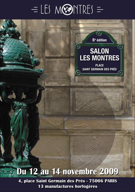 Salon « Les Montres » : nouvelle édition et nouveau lieu les 12, 13 et 14 novembre 2009