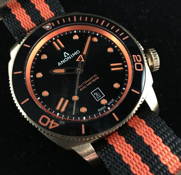 Anonimo Nautilo : du orange et du bronze pour Kronometry 1999