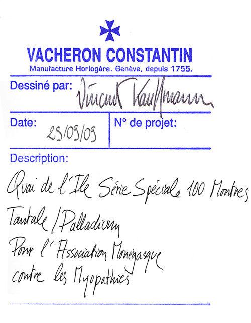 Vacheron Constantin : une Quai de l'Île en série limitée contre les myopathies