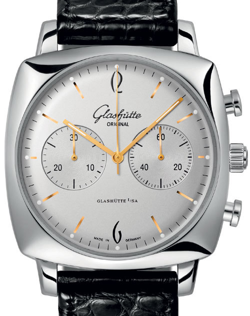 Glashütte Original chronographe carré Senator Sixties