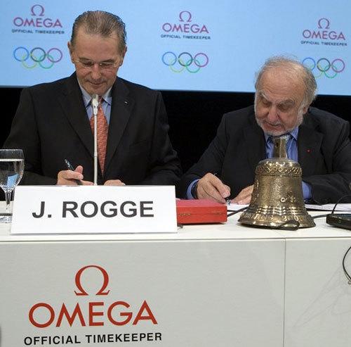 Jacques Rogge et Nicolas Hayek