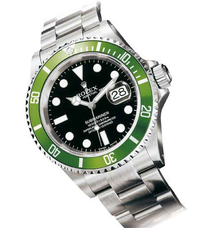 Rolex Submariner réf 16610LV dite « Sub verte »