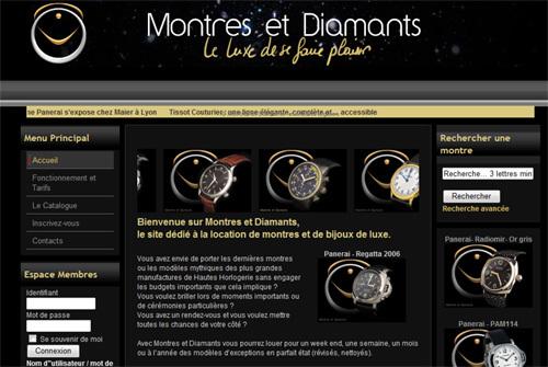 Montres et Diamants : des montres et des bijoux de luxe… à louer