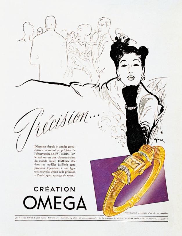Publicité Omega de 1946