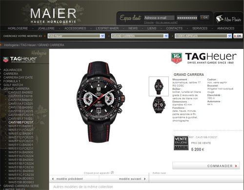 Maier.fr : un site marchand de montres de luxe pour le plus connu des détaillants lyonnais