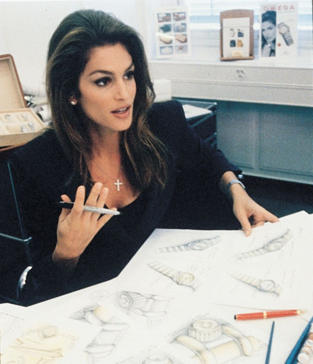 Cindy Crawford chez Omega