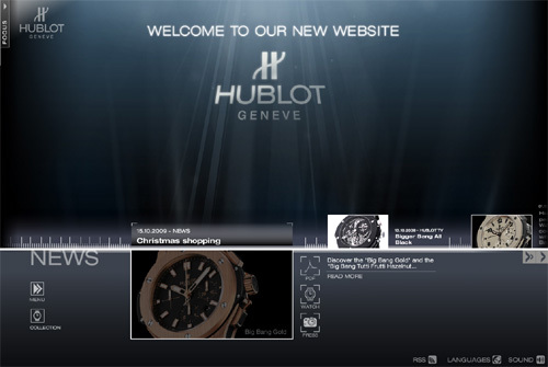 Un nouveau site Internet pour Hublot