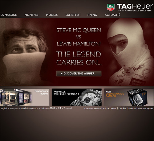 TAG Heuer distinguée pour sa stratégie Internet