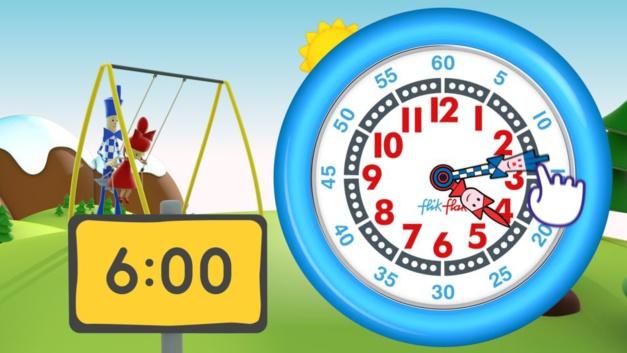 Apprendre à lire l'heure avec Flik et Flak