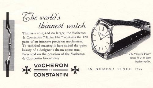 Vacheron Constantin Historique Ultra-fine 1955 et 1968 : l'extra-plat en héritage